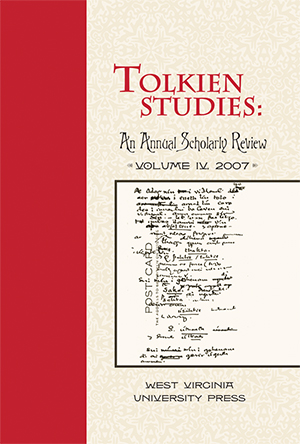 Tolkien Studies Volume 4