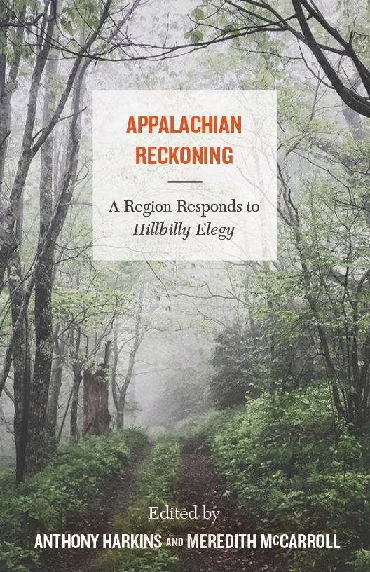 Book cover for Appalachian Reckoning featuring wooded Appalachian trail