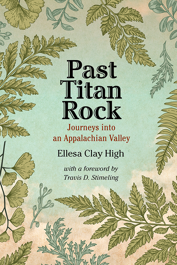 Past Titan Rock cover, illustration of leaves, clouds, sky