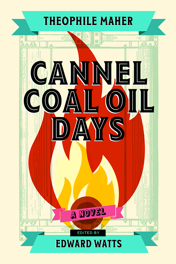 Cannel Coal Oil Days cover, illustration of a flame